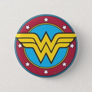 Wonder Woman | Circle & Stars Logo Button