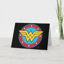 Wonder Woman | Circle & Stars Logo Card