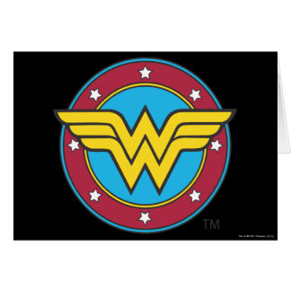 Wonder Woman | Circle & Stars Logo Card