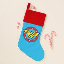 Wonder Woman | Circle & Stars Logo Christmas Stocking