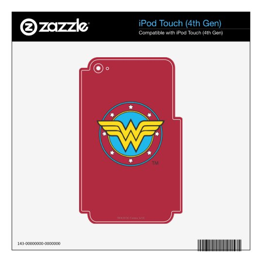 Wonder Woman | Circle & Stars Logo Decals For iPod Touch 4G