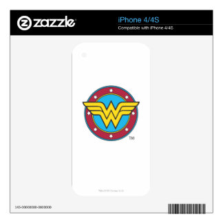 Wonder Woman Circle & Stars Logo Decals For The iPhone 4