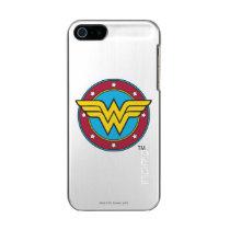 Wonder Woman | Circle & Stars Logo Metallic Phone Case For iPhone SE/5/5s