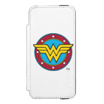Wonder Woman | Circle & Stars Logo iPhone SE/5/5s Wallet Case