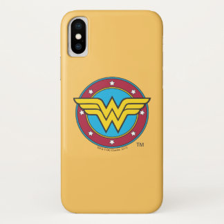 Wonder Woman | Circle & Stars Logo iPhone X Case