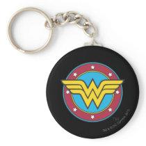 Wonder Woman | Circle & Stars Logo Keychain