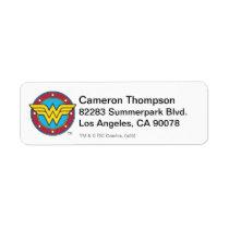 Wonder Woman | Circle & Stars Logo Label