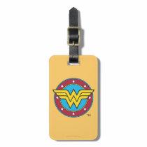 Wonder Woman | Circle & Stars Logo Luggage Tag