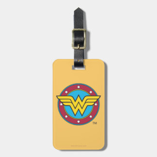 Wonder Woman Circle & Stars Logo Tags For Bags