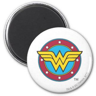Wonder Woman Circle & Stars Logo Magnet