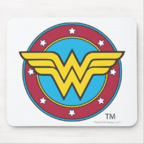 Wonder Woman | Circle & Stars Logo Mouse Pad