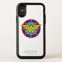 Wonder Woman | Circle & Stars Logo OtterBox Symmetry iPhone X Case
