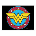 Wonder Woman Circle & Stars Logo Postcard
