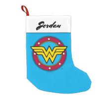Wonder Woman | Circle & Stars Logo Small Christmas Stocking