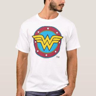 Wonder Woman Circle & Stars Logo T-Shirt