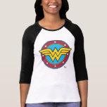 "Wonder Woman   Circle &amp; Stars Logo T-Shirt<br><div class=""desc"">Wonder Woman Logos</div>"