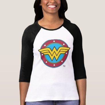 Christmas Themed Wonder Woman | Circle & Stars Logo T-Shirt