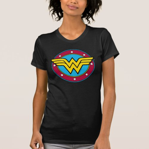 Wonder Woman  Circle  Stars Logo T_Shirt