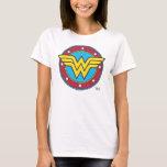 "Wonder Woman | Circle &amp; Stars Logo T-Shirt<br><div class=""desc"">Wonder Woman Logos</div>"