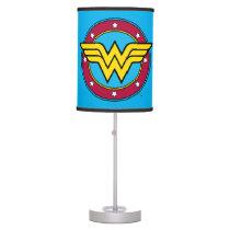 Wonder Woman | Circle & Stars Logo Table Lamp