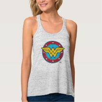 Wonder Woman | Circle & Stars Logo Tank Top