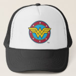 "Wonder Woman   Circle &amp; Stars Logo Trucker Hat<br><div class=""desc"">Wonder Woman Logos</div>"
