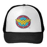 Wonder Woman Circle & Stars Logo Trucker Hat