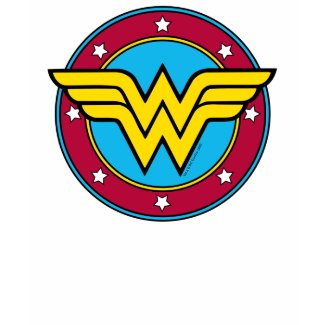 Wonder Woman Circle & Stars Logo shirt