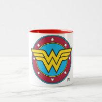 Wonder Woman | Circle & Stars Logo Two-Tone Coffee Mug