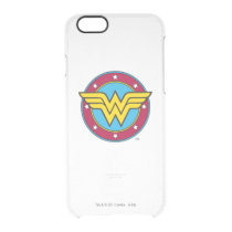 Wonder Woman | Circle & Stars Logo Clear iPhone 6/6S Case
