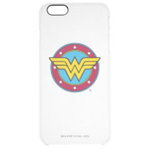 Wonder Woman | Circle & Stars Logo Clear iPhone 6 Plus Case