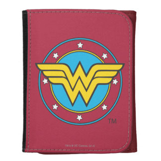 Wonder Woman Circle & Stars Logo Wallets