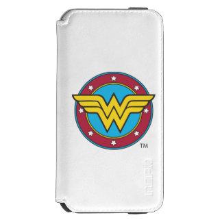 Wonder Woman Circle & Stars Logo Incipio Watson™ iPhone 6 Wallet Case