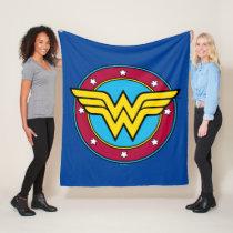 Wonder Woman   Circle & Stars Vintage Logo Fleece Blanket
