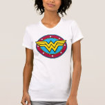 Wonder Woman | Circle & Stars Vintage Logo T-Shirt