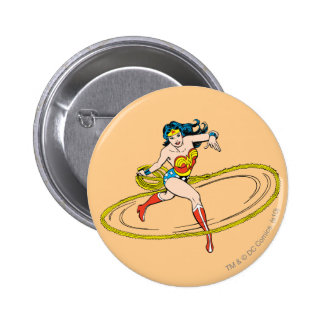 Wonder Woman Circled with Lasso Button