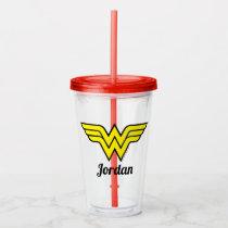 Wonder Woman | Classic Logo Acrylic Tumbler