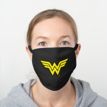 Wonder Woman | Classic Logo Black Cotton Face Mask
