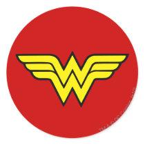 Wonder Woman | Classic Logo Classic Round Sticker