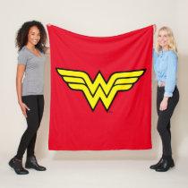 Wonder Woman   Classic Logo Fleece Blanket
