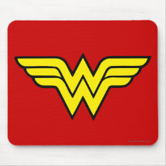 Wonder Woman | Classic Logo Mouse Pad at Zazzle