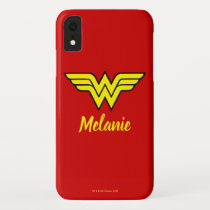 Wonder Woman | Classic Logo & Name iPhone XR Case