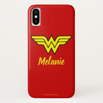 Wonder Woman | Classic Logo & Name iPhone XS Case