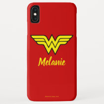 Wonder Woman | Classic Logo & Name iPhone XS Max Case