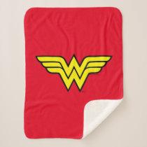 Wonder Woman   Classic Logo Sherpa Blanket