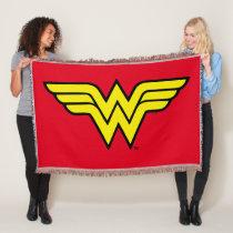Wonder Woman   Classic Logo Throw Blanket