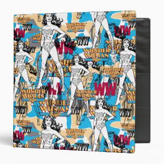 Wonder Woman Collage 10 Vinyl Binder