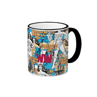 Wonder Woman Collage 10 Ringer Mug