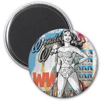 Wonder Woman Collage 2 2 Inch Round Magnet