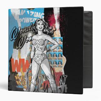 Wonder Woman Collage 2 3 Ring Binder